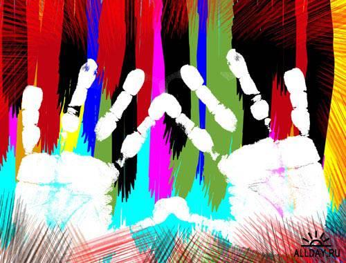 Отпечатки рук 4   Hand prints 4