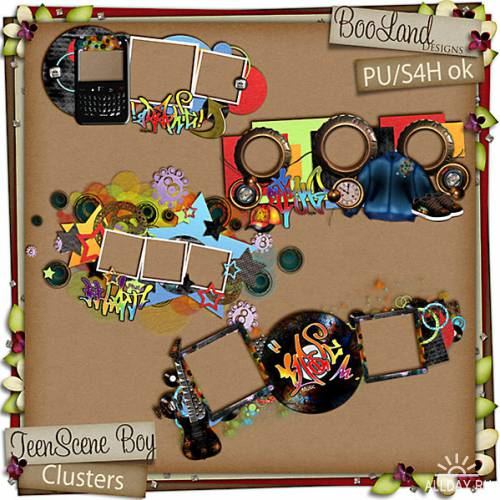 Scrap kit  Teen Scene Boy & Girl