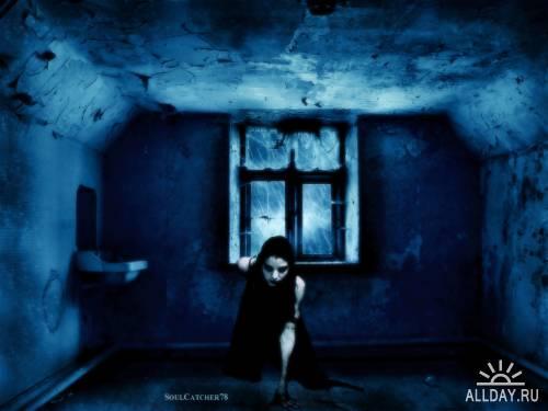 Обои в чёрных тонах. Ужас во мраке (2010) / JPEG