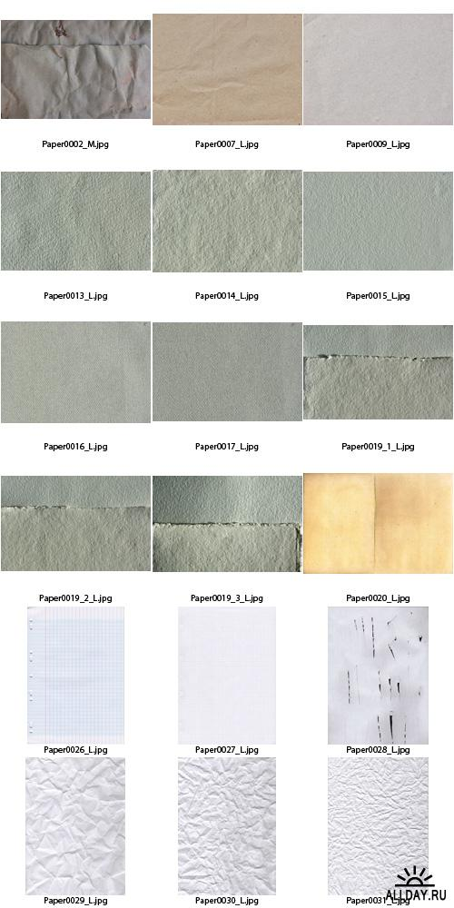 Текстуры - Plain Paper Textures