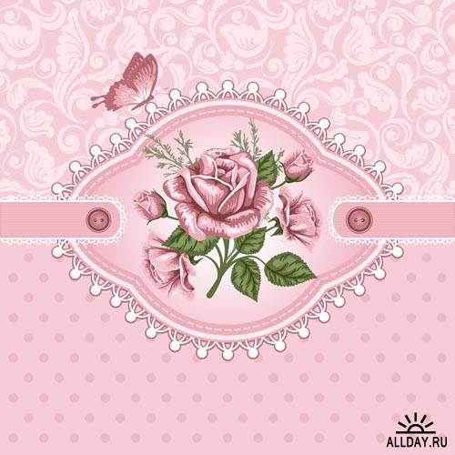 Фон роз для скрапбукинга