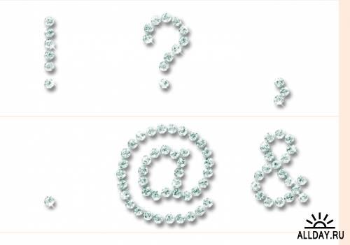 Клипарт - Бриллиантовый алфавит