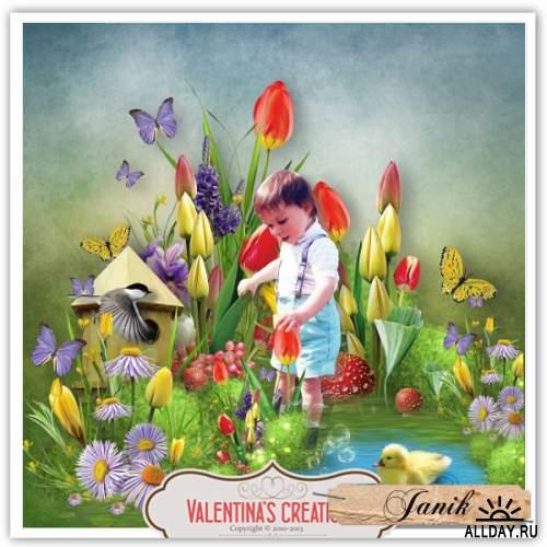 Scrap kit Tulips