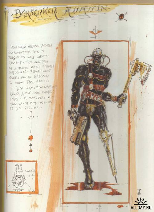 The Inquisitor sketchbook