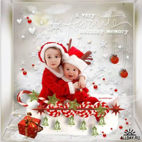 Scrap kit  Baby 1st Christmas