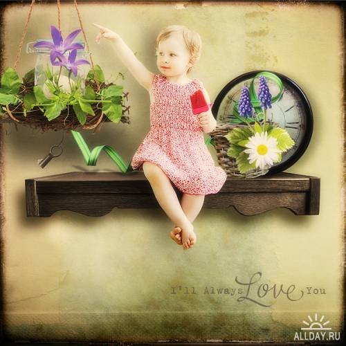 Скрап-набор Little Garden