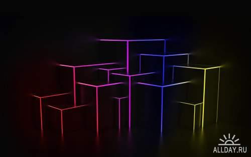 Абстрактная графика для фона на рабочем столе 38