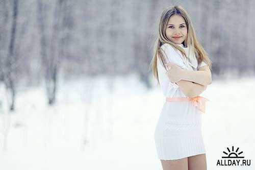 Растровый клипарт - Красивые девушки