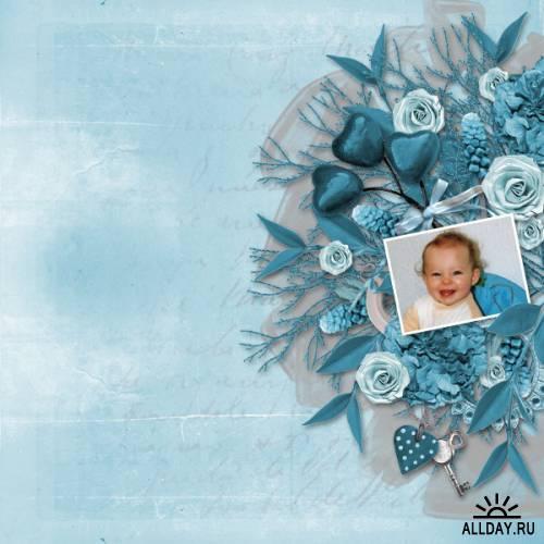 Скрап-набор Eternal Blue