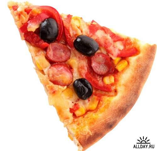 Фотосток: кусочек пиццы