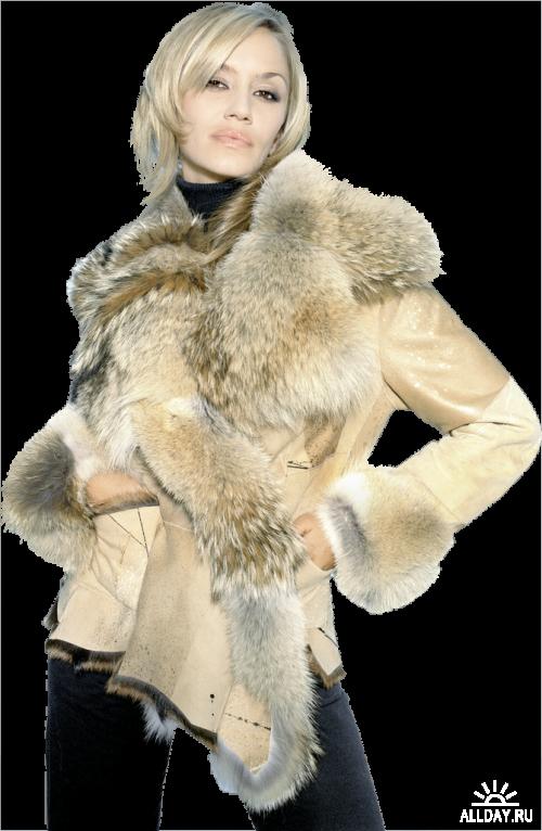 Ladies in Furs Леди в шубках png
