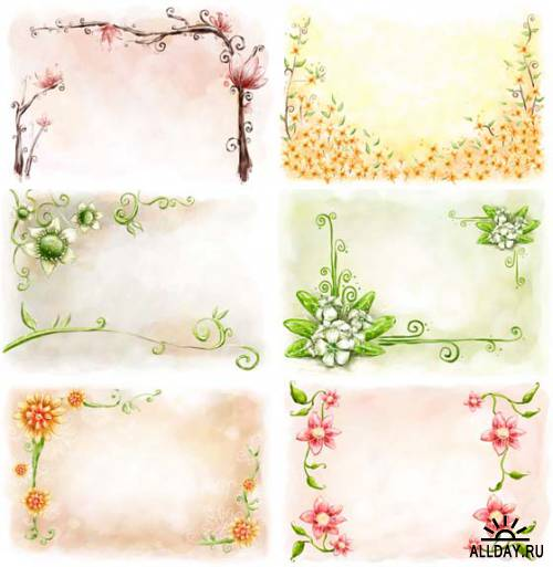 Рамки — Цветы из-под кисти