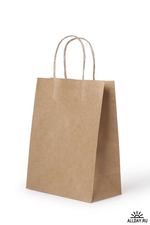 Бумажные пакеты - Растровый клипарт   Paper bags - UHQ Stock Photo