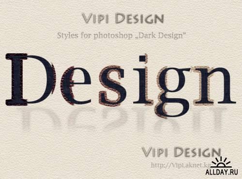 Стили для фотошопа - Dark Design