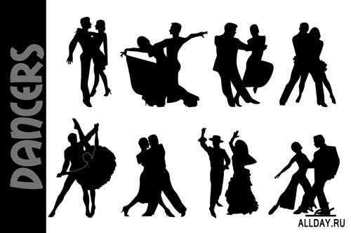 Танцевальные пары #1 - Векторный клипарт