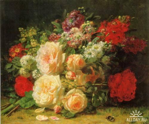 Бельгийский художник Jean-Baptiste Robie (1821-1910)
