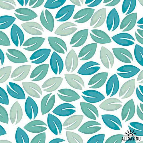 Бесшовный паттерн с листьями   Seamless leaf pattern