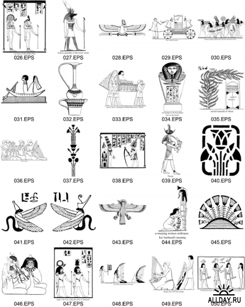Ancient Egyptian Designs And Motifs