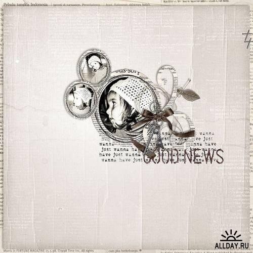 Скрап-набор Morning News