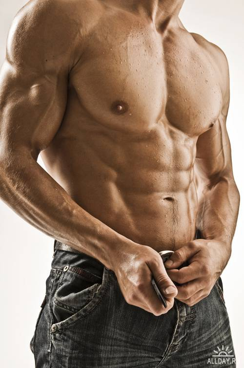 Обнаженный мускулистый торс | Naked muscular torso - UHQ Stock Photo