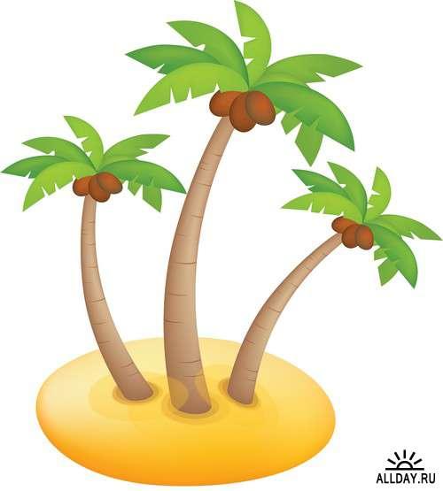 Southern tree - palm 2 | Южное дерево - пальма 2 - элементы для коллажей