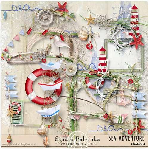 Скрап-набор Sea Adventure - Морские Приключения