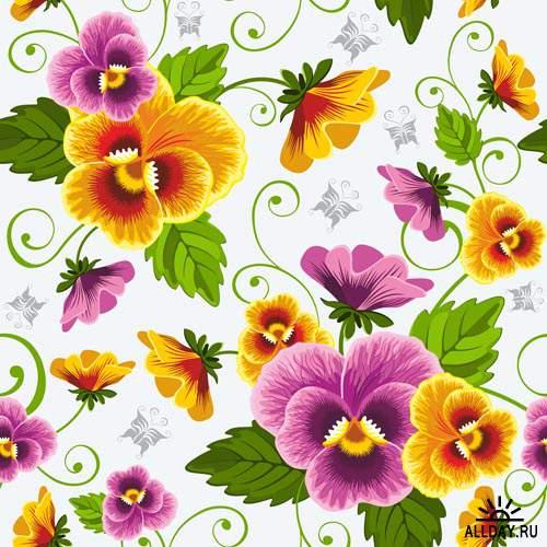 Цветы в векторе #22 - Векторный клипарт