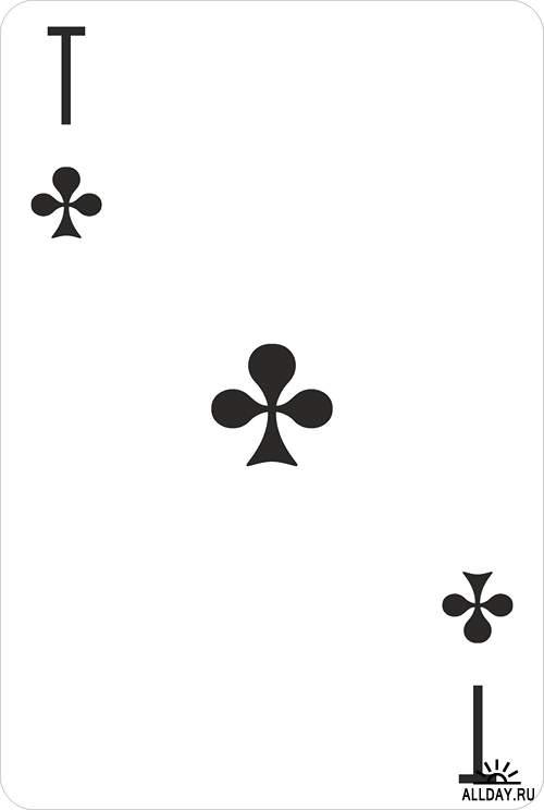 Карты игральные классические - векторный сток