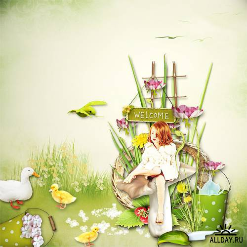 Scrap kit  Welcome To My Garden & ColorMadness