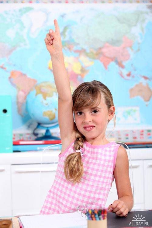 Stock Photo: Little schoolgirl | Маленькая школьница