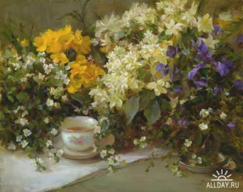 Цветочные картины.Художница Stephanie Birdsall