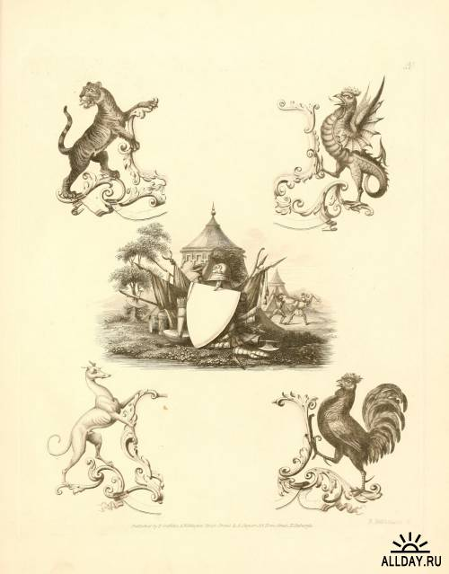 Knight`s Heraldic Illustrations