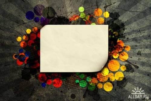 Бланки, листы бумаги, знаки и рекламные плоскости