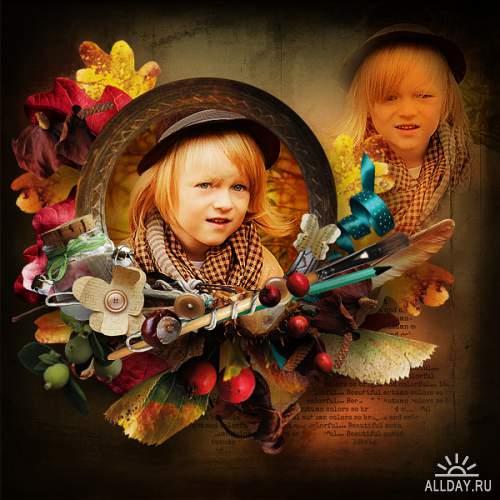 Скрап-набор Bright Colored Autumn