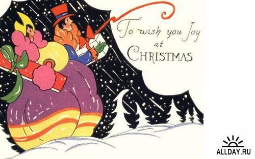 New Year postcard of the twentieth century # 1 \ Новогодняя и рождественская открытка ХХ века #1