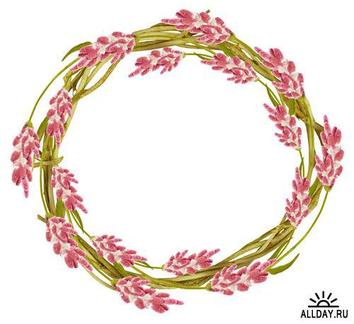 Floral Frame - cutouts 6 | Рамки - вырезы с цветами и листьями 6