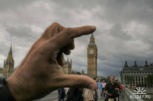 Банальный оптический обман в фотографии