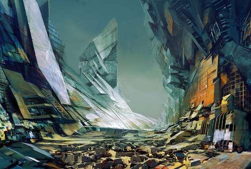 Фантастические города будущего художника Даниэля Доцу