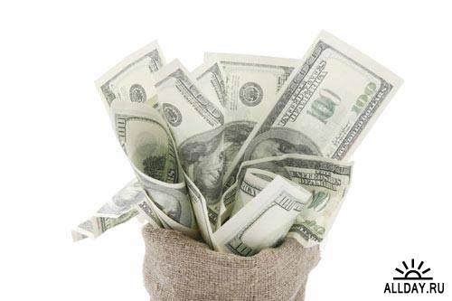 Stock Photo: Sack of money   Мешок с деньгами