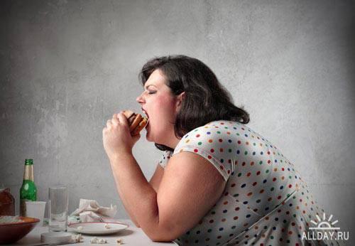 Stock Photo: Fat woman | Полная женщина