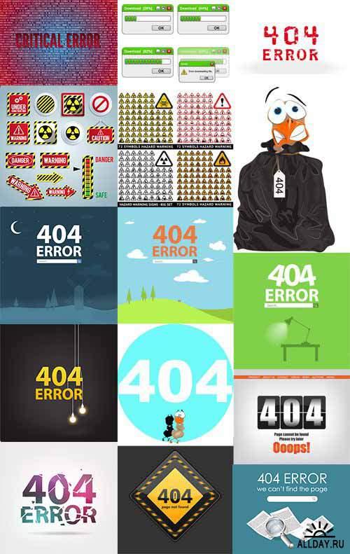 404 Not Found - 404 Страница не найдена Векторный клипарт