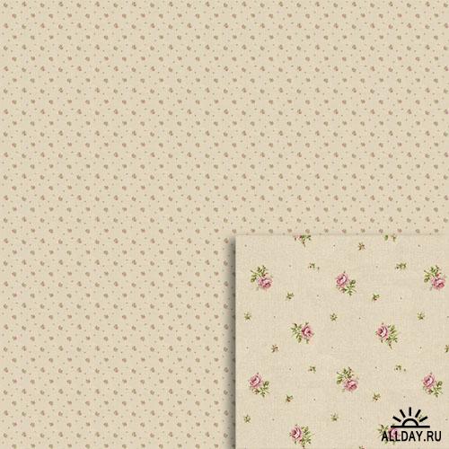 Винтажные цветочные фоны - PAPIERS FLEURIS