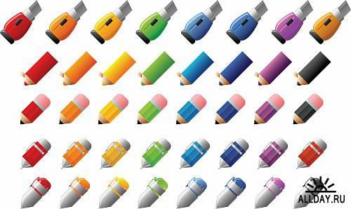 Клипарт - красивые карандаши
