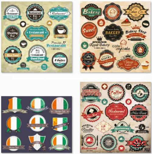 Mega Vector Labels Collection - 50 EPS Vector Stock
