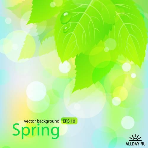 Весенний векторный клипарт | Spring - Stock Vectors