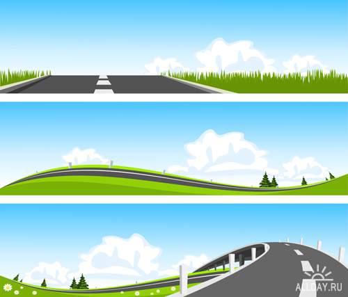 Дороги - Векторный клипарт | Roads - Stock Vectors