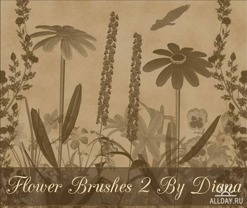 Flowers Brushes by Diana Creations \ Кисти - Цветы