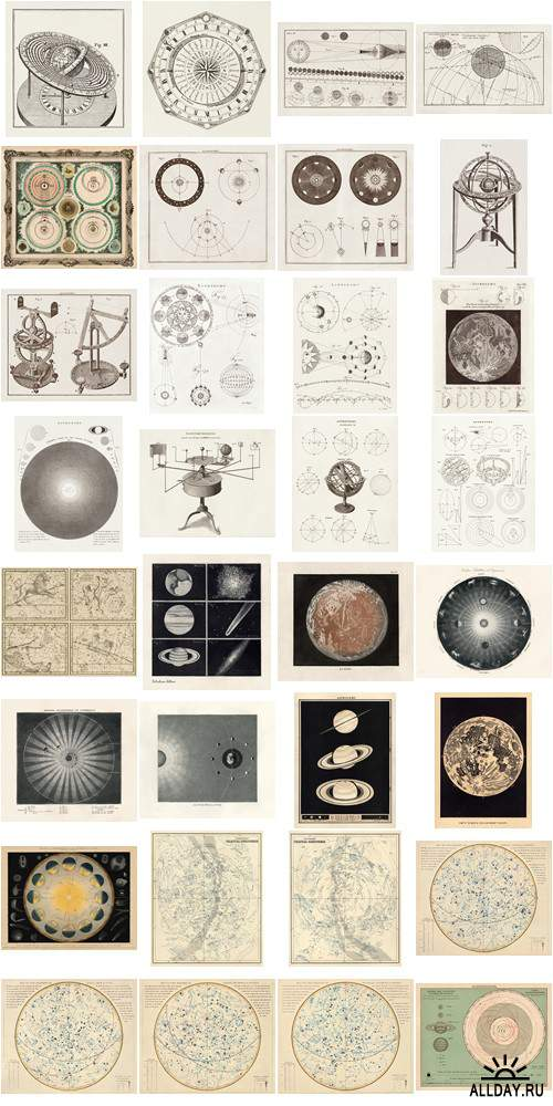 Visual Language 03 Antique Celestial Charts & Illustrations 1680-1880