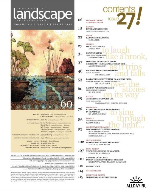Journal of Landscape Architecture (spring 2010) / India