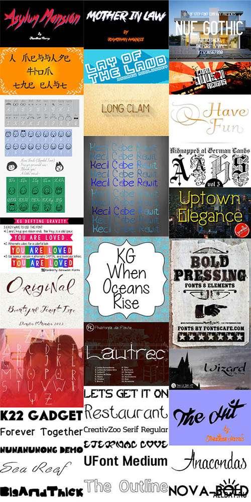 Сборник шрифтов ( часть 18) / Collection of fonts ( Part 18 )